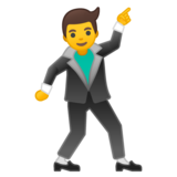 Man Dancing on Google Android 10.0
