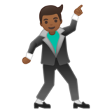 Man Dancing: Medium-Dark Skin Tone on Google Android 10.0