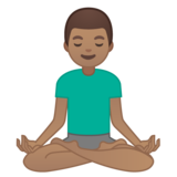 Man in Lotus Position: Medium Skin Tone on Google Android 10.0