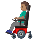 Man in Motorized Wheelchair: Medium Skin Tone on Google Android 10.0