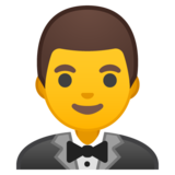 Man in Tuxedo on Google Android 10.0
