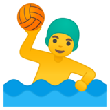 Man Playing Water Polo on Google Android 10.0