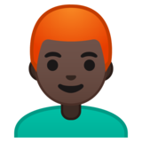 Man: Dark Skin Tone, Red Hair on Google Android 10.0