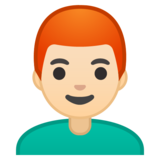 Man: Light Skin Tone, Red Hair on Google Android 10.0