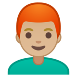 Man: Medium-Light Skin Tone, Red Hair on Google Android 10.0