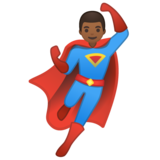 Man Superhero: Medium-Dark Skin Tone on Google Android 10.0