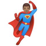 Man Superhero: Medium Skin Tone on Google Android 10.0