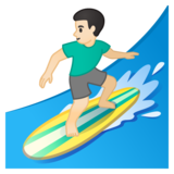 Man Surfing: Light Skin Tone on Google Android 10.0
