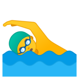 Man Swimming on Google Android 10.0