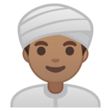 Man Wearing Turban: Medium Skin Tone on Google Android 10.0