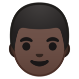 Man: Dark Skin Tone on Google Android 10.0