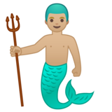 Merman: Medium-Light Skin Tone on Google Android 10.0