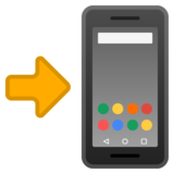 Mobile Phone with Arrow on Google Android 10.0