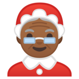 Mrs. Claus: Medium-Dark Skin Tone on Google Android 10.0
