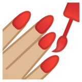 Nail Polish: Medium-Light Skin Tone on Google Android 10.0