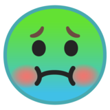 Nauseated Face on Google Android 10.0