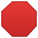 Stop Sign on Google Android 10.0