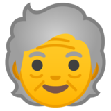 Older Person on Google Android 10.0
