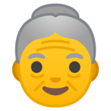 Old Woman on Google Android 10.0