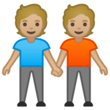 People Holding Hands: Medium-Light Skin Tone on Google Android 10.0