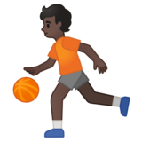 Person Bouncing Ball: Dark Skin Tone on Google Android 10.0