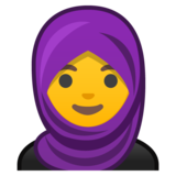 Woman With Headscarf on Google Android 10.0