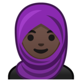 Woman With Headscarf: Dark Skin Tone on Google Android 10.0