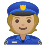 Police Officer: Medium-Light Skin Tone on Google Android 10.0