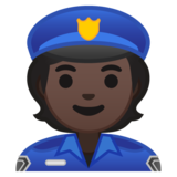 Police Officer: Dark Skin Tone on Google Android 10.0