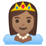 Princess: Medium Skin Tone on Google Android 10.0