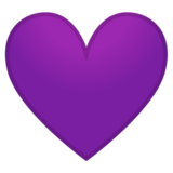 Purple Heart on Google Android 10.0