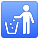 Litter in Bin Sign on Google Android 10.0