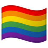 Rainbow Flag on Google Android 10.0