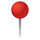 Round Pushpin on Google Android 10.0