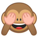 See-No-Evil Monkey on Google Android 10.0