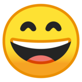 Grinning Face with Smiling Eyes on Google Android 10.0