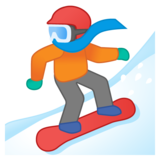 Snowboarder on Google Android 10.0