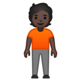 Person Standing: Dark Skin Tone on Google Android 10.0