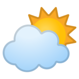 Sun Behind Cloud on Google Android 10.0