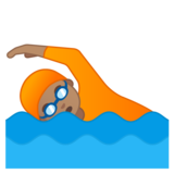 Person Swimming: Medium Skin Tone on Google Android 10.0