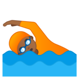 Person Swimming: Medium-Dark Skin Tone on Google Android 10.0