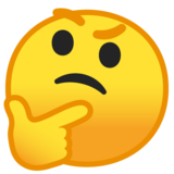 Thinking Face on Google Android 10.0