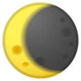 Waning Crescent Moon on Google Android 10.0