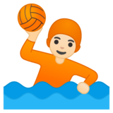 Person Playing Water Polo: Light Skin Tone on Google Android 10.0