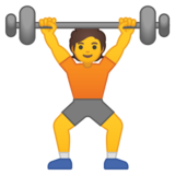 Person Lifting Weights on Google Android 10.0