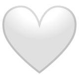 White Heart on Google Android 10.0