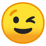 Winking Face on Google Android 10.0