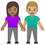 Woman and Man Holding Hands: Medium Skin Tone, Medium-Light Skin Tone on Google Android 10.0