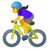 Woman Biking on Google Android 10.0