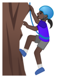Woman Climbing: Dark Skin Tone on Google Android 10.0